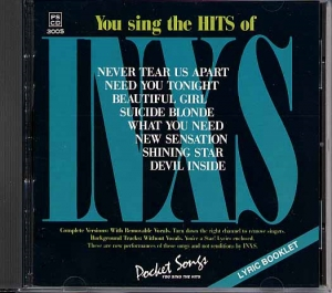 CD PLAY BACK POCKET SONGS HITS OF INXS (livret paroles inclus)