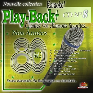 CD PLAY BACK AUDIO STUD + VOL.08 ''Années 80-2''