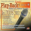 CD PLAY BACK AUDIO STUD + VOL.09 ''Duos 2003''