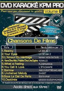 DVD KARAOKE KPM PRO VOL. 08 ''Chansons De Films'' (All)