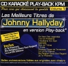 CD KARAOKE PLAY-BACK KPM VOL. 01 ''Johnny Hallyday''
