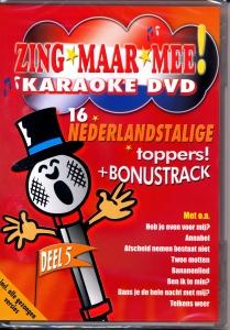 DVD KARAOKE NEERLANDAIS ZING MAAR MEE VOL.05