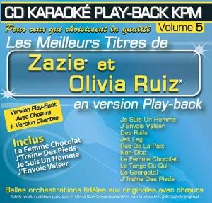CD KARAOKE PLAY-BACK KPM VOL. 05 ''Zazie & Olivia Ruiz''