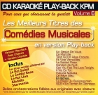 CD KARAOKE PLAY-BACK KPM VOL. 06 ''Comédies Musicales''