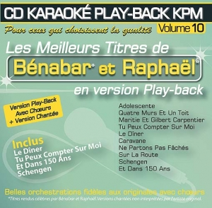 CD KARAOKE PLAY-BACK KPM VOL. 10 ''Bénabar & Raphaël''