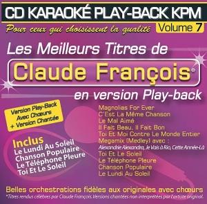 CD KARAOKE PLAY-BACK KPM VOL. 07 ''Claude François''