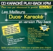 CD KARAOKE PLAY-BACK KPM VOL. 12 ''Duos Karaoké''
