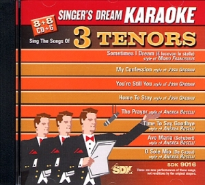 CD(G) PLAY BACK 3 TENORS (Livret Paroles Inclus)