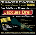 CD KARAOKE PLAY-BACK KPM VOL. 09 ''Jacques Brel''