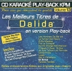 CD KARAOKE PLAY-BACK KPM VOL. 13 ''Dalida''