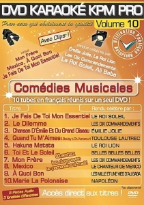 DVD KARAOKE KPM PRO VOL. 10 ''Comédies Musicales'' (All)