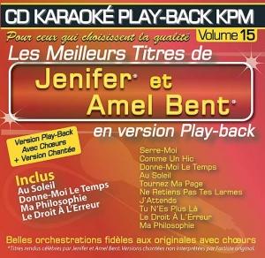 CD KARAOKE PLAY-BACK KPM VOL. 15 ''Amel Bent & Jenifer''