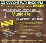 CD KARAOKE PLAY-BACK KPM VOL. 17 ''Music-Hall''