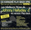 CD KARAOKE PLAY-BACK KPM VOL. 18 ''Johnny Hallyday Vol. 02''