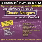 CD KARAOKE PLAY-BACK KPM VOL. 20 ''Claude Nougaro''