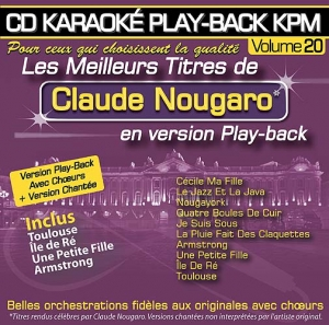 CD KARAOKE PLAY-BACK KPM VOL. 20 ''Claude Nougaro''