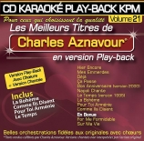 CD KARAOKE PLAY-BACK KPM VOL. 21 ''Charles Aznavour''