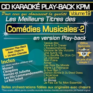 CD KARAOKE PLAY-BACK KPM VOL. 19 ''Comédies Musicales - 2''