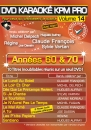 DVD KARAOKE KPM PRO VOL. 14 ''Années 60 & 70'' (All)